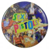 Sex Pistols - 'Cartoon Collage' Button Badge